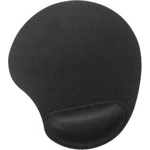 GEMBIRD MP-GEL-BLACK GEL MOUSE PAD WITH WRIST REST BLACK