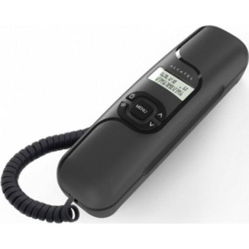 ALCATEL Temporis 16 Τηλέφωνο Ενσύρματο Γόνδολα Μάυρο με Αναγνώριση Κλήσης 0016324