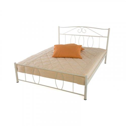 FYLLIANA 827-18-007 Κρεβάτι Σιδερένιο Μπεζ 150 x 200 (Χωρίς Τάβλες)