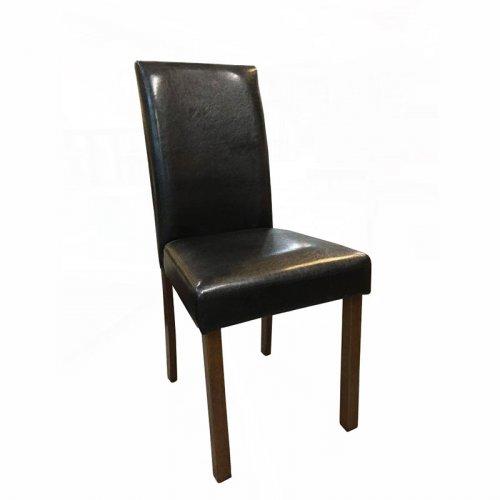 FYLLIANA LUNA PARSON 927-16-008 Καρέκλα Τραπεζαρίας Μαύρη Δερματίνη