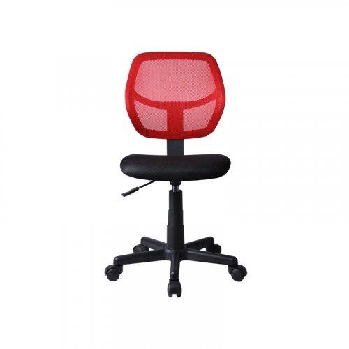 FYLLIANA 093-27-096 Καρέκλα Γραφείου 5156P Χωρίς Μπράτσα Μαύρη/Κόκκινη 41x52x80cm