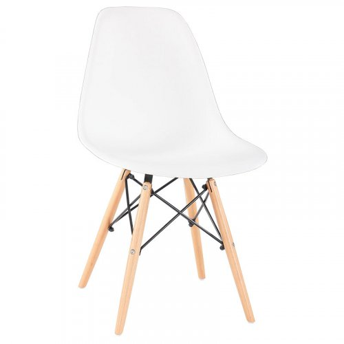 FYLLIANA 617-82-037 Καρέκλα C-808 Λευκό Κάθισμα 53χ46χ82