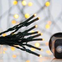 EUROLAMP 600-11551 400 Χριστουγεννιάτικα Λαμπάκια Λευκό Θερμό LED ανά 5εκ. IP44 σε Σειρά με Πρόγραμμα 22,95 ΜΕΤΡΑ