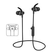 PLATINET PM1060B MP3 Bluetooth V4.2 + microSD Sport Earphones + Mic Black