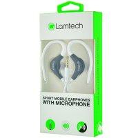 LAMTECH LAM020229 Sport Mobile Earphones with Mic White