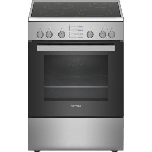 PITSOS PHC009150 Κεραμική Κουζίνα Inox 66lt - Α (Υ x Π x Β): 85 x 60 x 60 cm 0015724