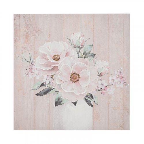 INART 3-90-242-0139 Πίνακας/Καμβάς Ροζ Λουλούδια 70χ3χ70 εκ.