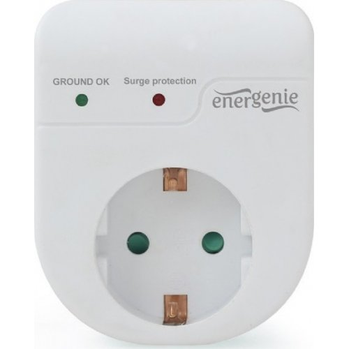 ENERGENIE EG-SPG1-01-W SURGE PROTECTOR, SINGLE SOCKET, SCHUKO Λευκό