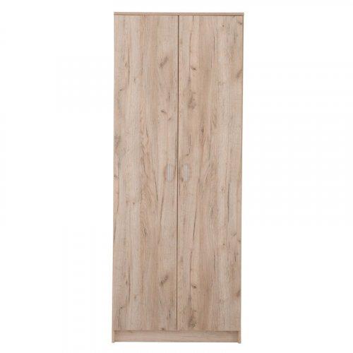 FORMA IDEALE 11003059 Hana 2K Ντουλάπα Grey Oak 80x52x205εκ.