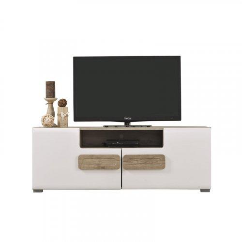 FORMA IDEALE 11005757 Έπιπλο Tηλεόρασης Bert Grey/Oak/Λευκή Λάκκα 120*41,5*43,5εκ.