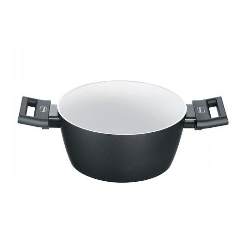 BERNDES 013345 Αντικολλητική Κατσαρόλα με Γυάλινο Καπάκι 24cm & Κεραμική Επίστρωση (Made in Germany) 0017649