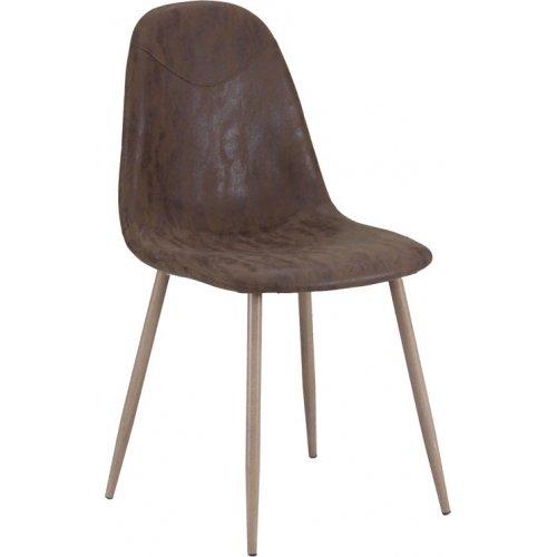 FYLLIANA 618-18-029 Καρέκλα A336 Καφέ 52χ44χ85 ΦΦ5