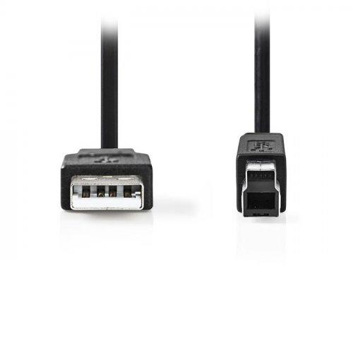 NEDIS CCGP60100BK50 Καλώδιο USB 2.0 A αρσ.- B αρσ., 5m