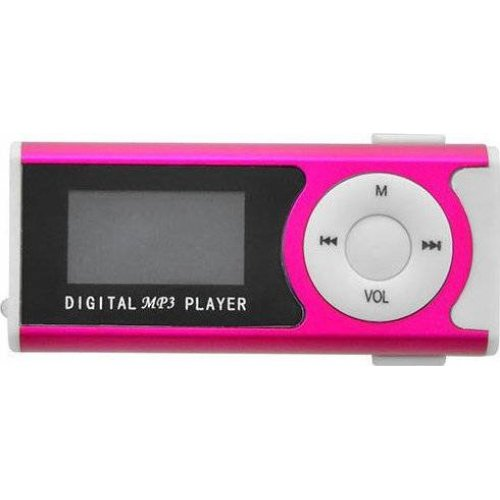 LAMTECH LAM020137 Digital MP3 Player 16GB With FM Radio Fuchsia