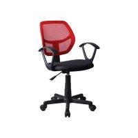 FYLLIANA 093-27-102 5156Ρ Καρέκλα Γραφείου με Μπράτσα Μαύρη/Κόκκινη 51*52*80/92