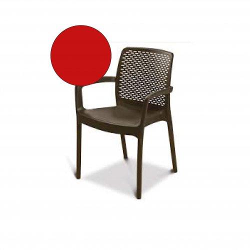FYLLIANA SEDIR 838-14-002 Καρέκλα Πλαστική Κόκκινη
