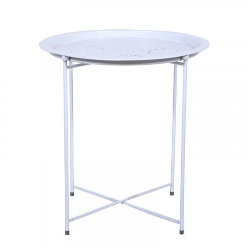 FYLLIANA 274-91-001 Μεταλλικό Τραπέζι Elfo Λευκό Στρογγυλό 51εκ