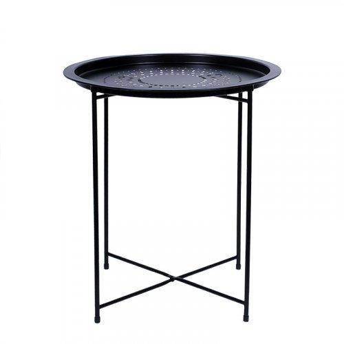 FYLLIANA 274-91-002 Μεταλλικό Τραπέζι Elfo Μαύρο Στρογγυλό 51εκ