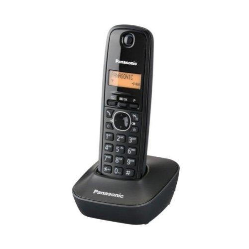 PANASONIC KX-TG1611GRH Ψηφιακό Ασύρματο Τηλέφωνο Μαύρο 230085