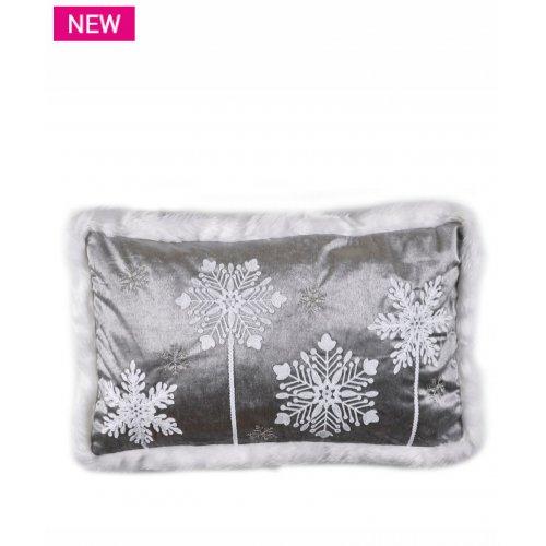 KENTIA Snow 201 Μαξιλάρι Διακοσμητικό Με Γέμισμα 35x60