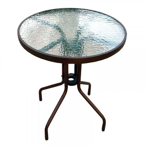 FYLLIANA JS519GT60 327-16-045 Τραπέζι Στρογγυλό Καφέ 60 x 72