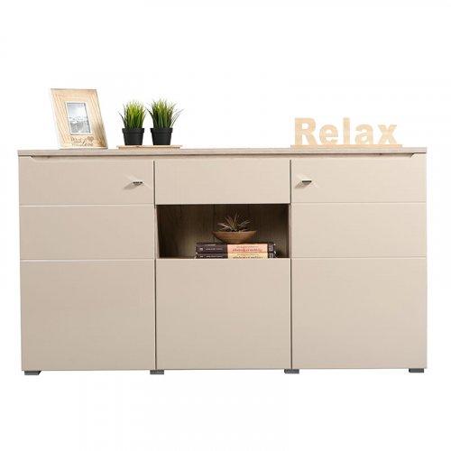 FORMA IDEALE 11007412  Κομότα Toscana 3K1F Grey Oak - Sand Γυαλιστερό Foil 173 x 40 x 96
