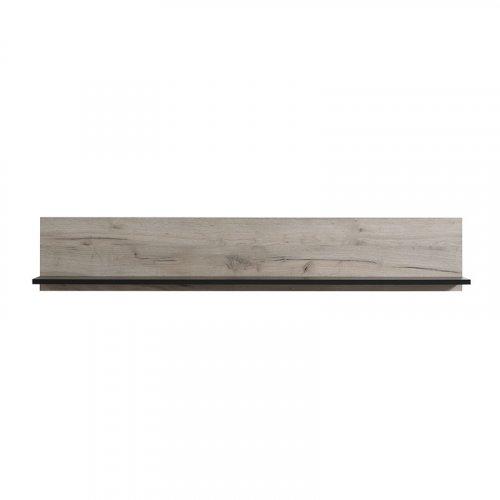 FORMA IDEALE 11007389 Ράφι Τοίχου Umbria Zp Grey Oak-Μαύρο 138χ19.5χ24εκ.